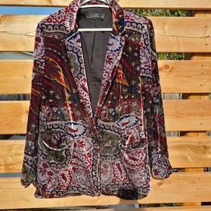 Multi-colored velvet Zara blazer
